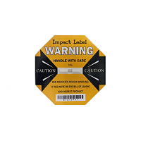 Damage Impact Label 25G Yellow