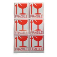 Labels & Printers - Fragile Label - 75 x 85mm (English)