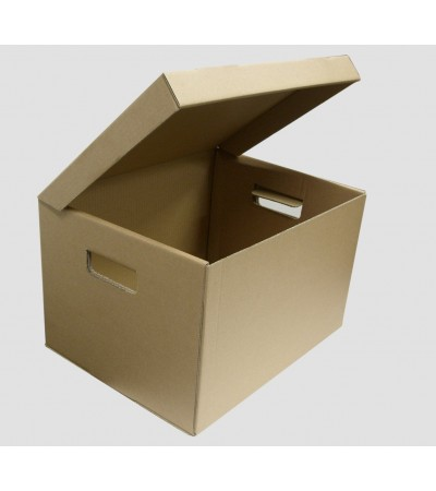 Single Wall Archive Box Integrated Cover - 416 x 324 x 298mm
